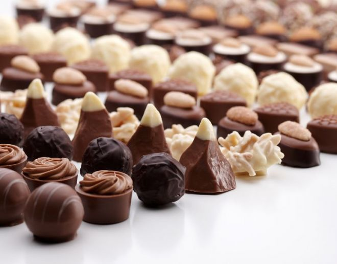 Кондитерские изделия из шоколада